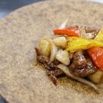 牛肉の黒胡椒とハチミツの炒め