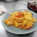 大海老とトマト入り卵のトロトロ炒め