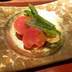 お料理 ひ魯ひ魯 - 地元の野菜。出汁に浸してました。