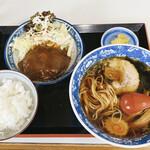 更科 - 料理写真:ラーメンセット 1,000円