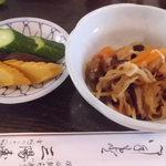 三陽寿司 - 切り干し大根は、お寿司にも、うな丼にもつきます