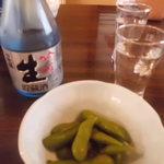 三陽寿司 - お通しの枝豆