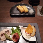 いちょう坂 - だし巻き玉子と前菜