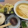 うどん居酒屋 麦笑 - 料理写真:舞茸天ひやかけ+焼きサバご飯