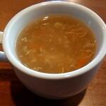 ミトチャカリー - ヌードルは、日替わりスープが付きます。スープのおかわり無料です。