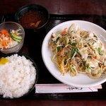 コウゲ - 野菜焼きそば定食(650円)