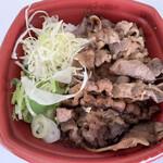カルビ丼とスン豆腐専門店 韓丼 - けっこうお肉の量もあって、満足の一品ですね       (o・∇︎・o)