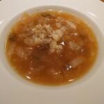 150748033 - 新玉ねぎとポルチーニ茸のスープ