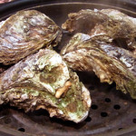 ささの葉 - 蒸し岩牡蠣