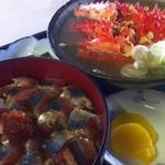鈴木食堂 - さんま丼と花咲蟹鉄砲汁セット