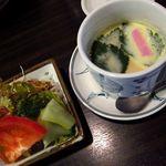 15076925 - サラダと茶碗蒸し