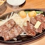 1ポンドのステーキハンバーグ タケル - ミスジ&ハラミ