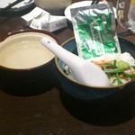魚と串揚げ 串かっちゃん - 締めに頼んだサケ茶漬け