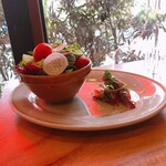 洋食屋 コンテブル - サラダとホタルイカ
