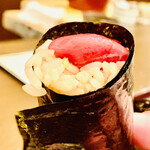 おが和 - ☆天然本まぐろの海苔巻き。 ◎海苔は石巻の海苔漁師「相澤さん」が作ったこだわり海苔。
