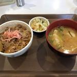 すき家 - 牛丼ミニモーニングセットお新香変更
