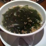 牛角 - わかめスープ