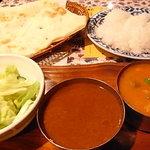 南インド料理胡椒海岸マラバールエクスプレス - Bセット、ペアカレー+ハーフライス&ハーフナン