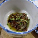 ふらの 海の花 - 2012年宴会料理3000円。くらげに削り節、きゅうり。シンプルな美味しさでした。