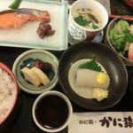 15080943 - 鮭の味噌漬け定食。いかソーメンも付いています。