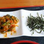スーパーキッチン かさや - 野沢菜キムチ&刻みのり