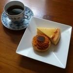 CQL - チーズケーキと、ハロウィン限定のパンプキンタルト