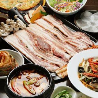 ◎国産サムギョプサル(豚カルビ)100分食べ放題プラン◎