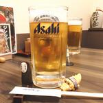 150824426 - アサヒスーパードライ生大                       あら(*゚▽゚*)美味しい