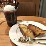 猿田彦珈琲 - 水出しコーヒーフロートとフレンチトースト