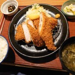 かつ敏 - (2021/2月)ホッケかつと三元豚ロースかつ定食