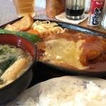 キッチン レンガ - ハンバーグチーズ焼きセット