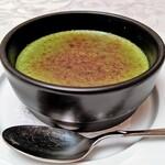 DINING 六区 - 宇治抹茶のクレームブリュレ