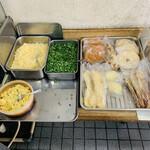 松下製麺所 - 薬味+天ぷら