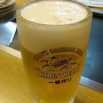 浜作 - 生ビール中ジョッキ!