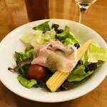 ステーキハウス寿楽 - セットのサラダ