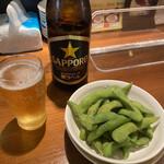 150856047 - 瓶ビール ¥600 枝豆¥300