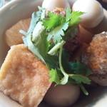 越南食卓 - 具だくさん、肉団子の断面