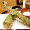 幸町 満留賀 - 料理写真:アスパラの天ぷら この日の裏メニュー