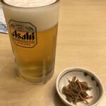 鯖と創作料理の店 廣半 - 生ビール