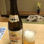 鯖と創作料理の店 廣半 - 瓶ビール