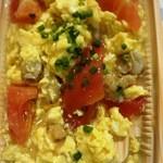 龍口酒家 - ホタテとトマトの卵炒め