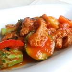 aivie - ハチノスのピリ辛トマト煮