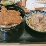 ほたや食堂 - ソースカツ丼冷おろし蕎麦セット+ご飯大盛り