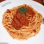 150886873 - バジルとトマトソースのスパゲッティ(1,400円)