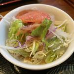 ボンドール - アメリカンハンバーグ(税込 980円)評価=○:サラダ