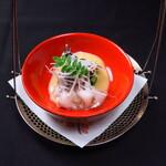 卓楽 - 九条葱と鳥貝の酢味噌