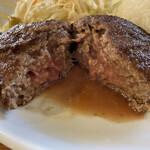 キッチン ソウショー - 和牛ハンバーグ 厚焼ハンバーグセット(税込 1,100円)評価=○