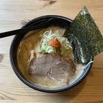 北海道ラーメン 追風丸 - 白味噌ラーメンセット ¥1,100