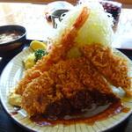 はまーかつ - 海老とヒレカツ定食