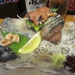 寿司竹寅 - さざえのお造り  肝も貝柱も 旨みが凝縮w
